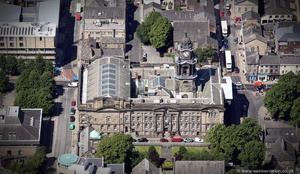 Lancaster Town Hall  from the air