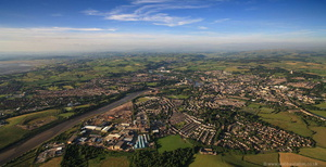 Lancaster panorama from the air