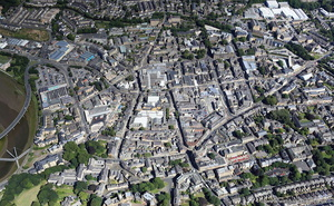 Lancaster town centre from the air