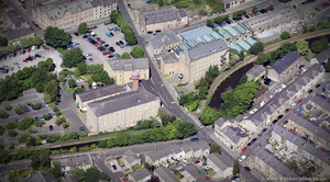 Moor Lane Mills Lancaster  from the air