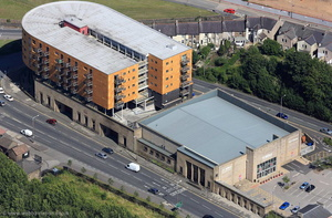 The Old Bus Depot, Kingsway, Lancaster LA1 1BB from the air