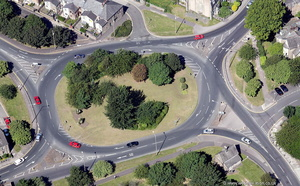 Pointer roundabout  Lancaster  from the air