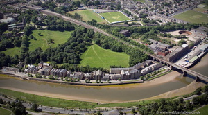 River Lune apartments, Lancaster,  from the air