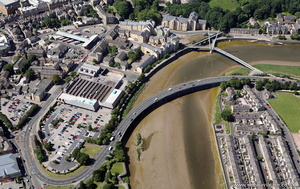 Greyhound Bridge Lancaster from the air