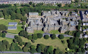 former Royal Albert Hospital, Lancaster, now the Jamea Al Kauthar Islamic College from the air