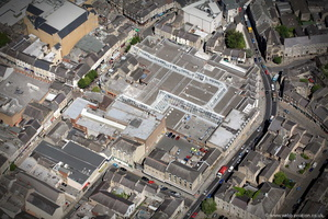 St Nicholas Arcades , Lancaster,  from the air