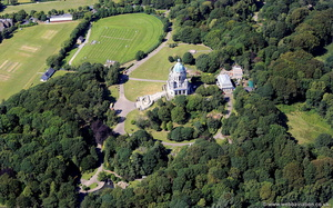 Williamson Park, Lancaster, from the air