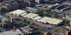 Central Retail Park Great Ancoats St Manchester from the air