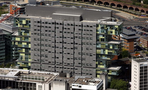 Manchester Civil Justice Centre from the air