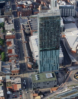 Hilton , aka Beetham Tower, Manchester   from the air