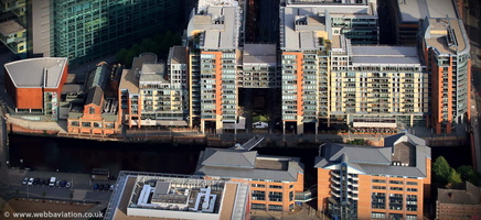 Leftbank, Manchester M3 from the air