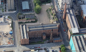 Macintosh Factory, Hulme Street  Manchester from the air