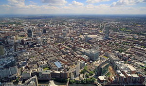 Manchester from west  from the air