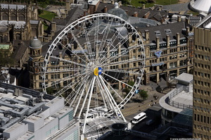 Manchester big wheel from the air