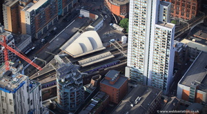 Manchester Oxford Road railway station from the air