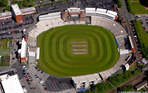 Old Trafford cricket ground   Manchester aerial photograph