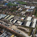 Armstrong Whitworth works site,  Ashton Old Rd Openshaw Manchester from the air