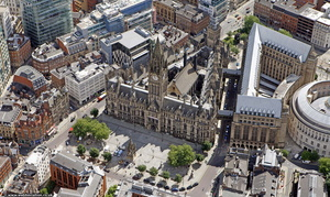 Manchester Town Hall  from the air