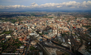 Manchester panorama from the air