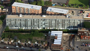 Milliners Wharf, New Islington, Manchester from the air