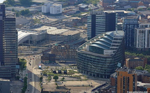 One Angel Square Manchester aerial photograph