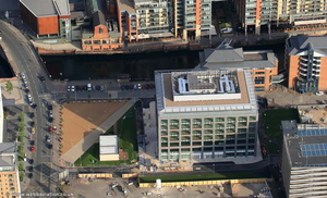 One New Bailey,  Salford, Greater Manchester from the air