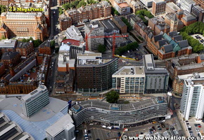 Piccadilly Place   Manchester aerial photograph