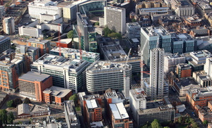 Spinningfields, Manchester M3  from the air