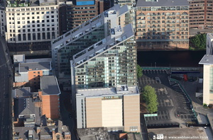 The Edge, Salford ,  Greater Manchester  from the air