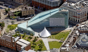National Football Museum / Urbis  Manchester city centre  from the air