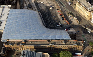 Victoria Station Manchester  from the air