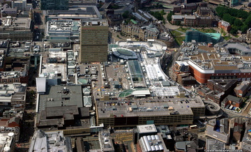 Manchester Arndale shopping centre i  from the air