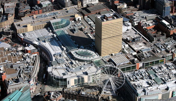 Manchester Arndale shopping centre  from the air