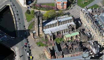 Manchester Cathedral from the air