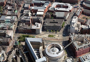 archive old aerial photograph of Manchester UK taken 2006