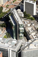 archive old aerial photograph of the Civil Justice Centre Manchester UK taken 2007