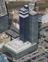 CIS Building Manchester from the air