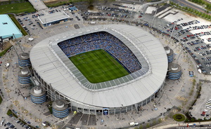 The City of Manchester Stadium aerial photograph