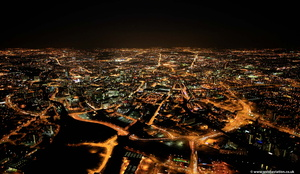 Manchester at night from the air