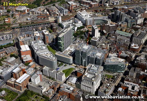 Spinningfields Manchester aerial photograph