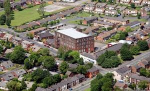 Thornham  Mill Oozewood Road, Royton from the air