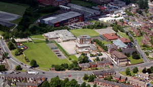 Our Lady's R.C. High School, Royton from the air