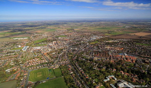 Ormskirk Lancashire from the air