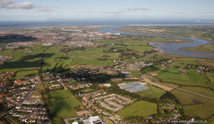 Poulton-Le-Fylde from the air