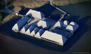 Brockholes visitor centre Preston from the air