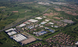 Broughton Business Park Preston  from the air