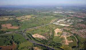Broughton Interchange - Junction 32 M6 Motorway Preston  from the air