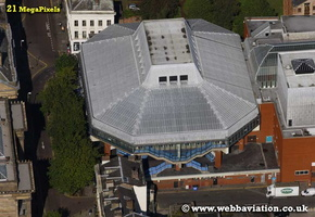 Preston Guild Hall Preston Lancashire aerial photograph