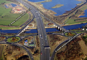 Junction 59 M6 Motorway  Preston Lancashire aerial photograph