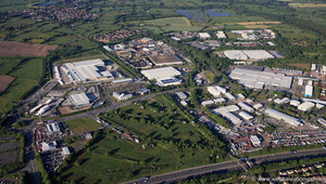 Millennium City Park, Preston from the air